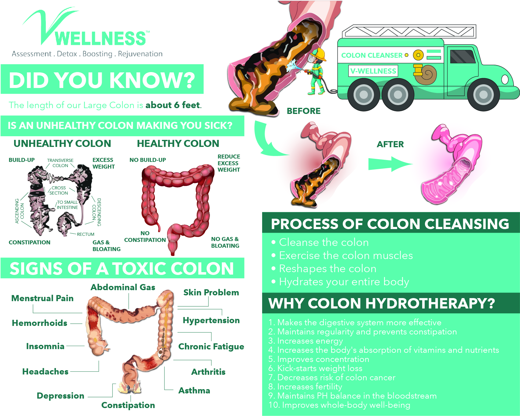 COLON HYDROTHERAPY - INFOGRAPHICS